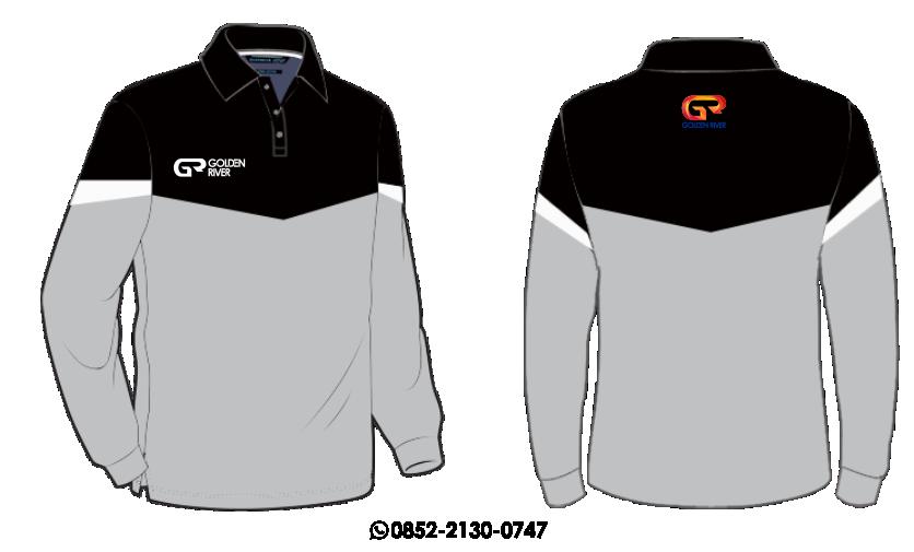 contoh desain polo shirt lengan panjang 12