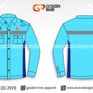contoh desain baju safety blue sky tambang