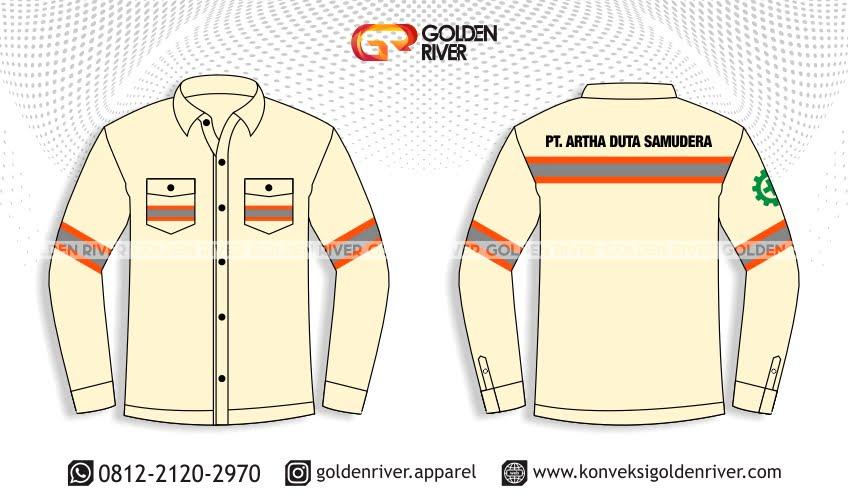 Contoh Desain Baju Seragam Panjang Artha Duta | Konveksi ...