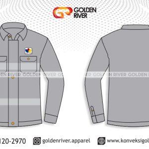 contoh desain kemeja semi jaket
