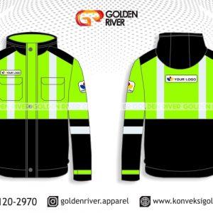 contoh desain baju safety jaket hijau stabilo