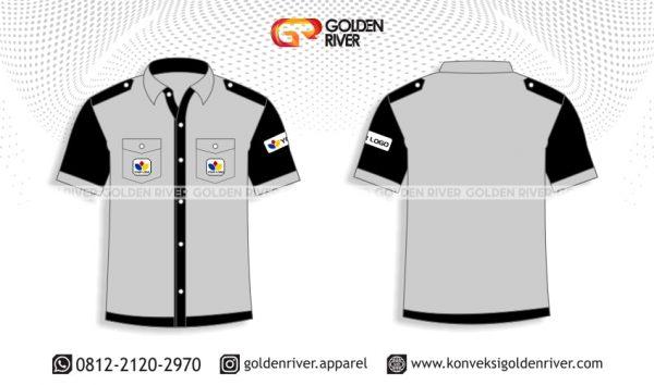 contoh desain baju seragam kerja pegawai bank