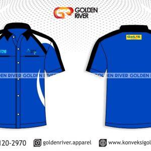 contoh desain baju seragam pendek PLN