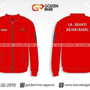 contoh desain jaket kejari merah