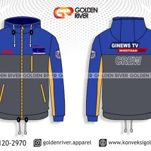 contoh desain jaket ginews biru