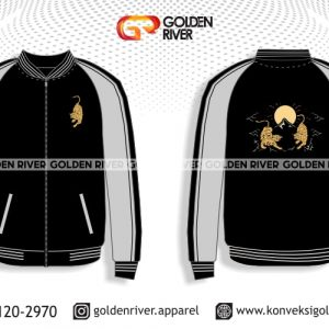 contoh desain jaket varsity jepang hitam