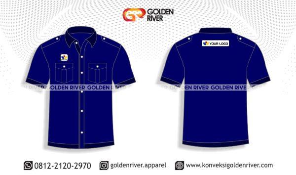 contoh desain kemeja seragam bank
