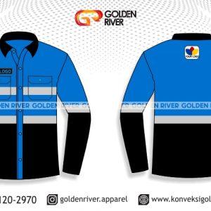 contoh desain kemeja seragam tambang