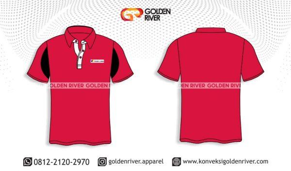contoh desain polo shirt merah