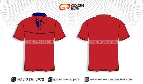 contoh desain polo shirt seragam