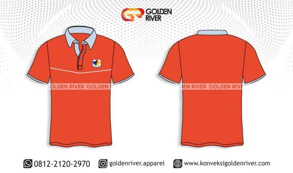 contoh desain polo shirt orange