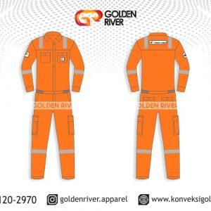 contoh desain wearpack orange