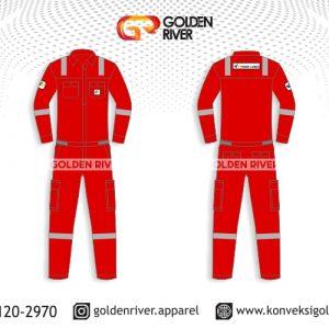 contoh desain wearpack coverall psi merah