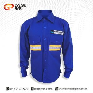 baju safety freeport biru anvy