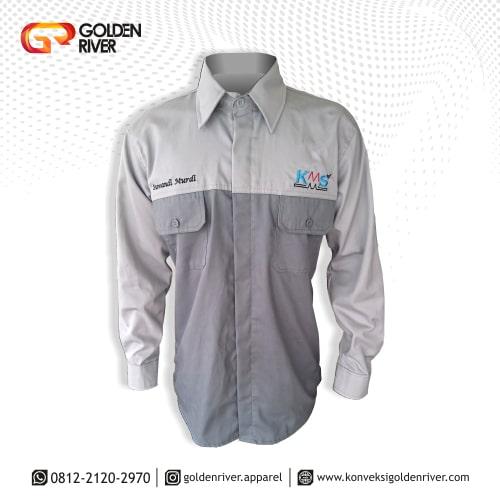 baju seragam kerja pt kms