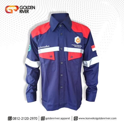 baju seragam megah surya pertiwi navy