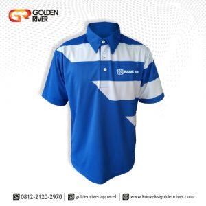 polo shirt biru bank bri
