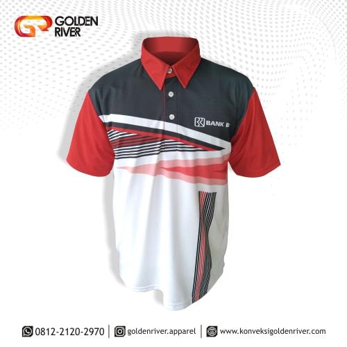polo shirt merah bank bri