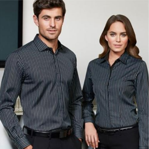 Desain Baju Seragam Stripe