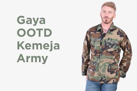 Bingung Pilih Style? Coba 8 Gaya OOTD Dengan Kemeja Army Yang Lagi Hits