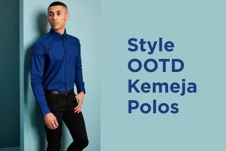 8 Model Style OOTD Dengan Kemeja Polos Untuk Tampil Lebih Maksimal